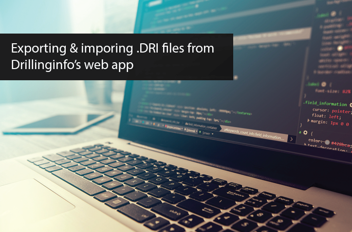 Exporting Data From The New Drillinginfo Web App