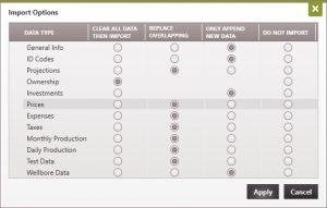 DRI to PHDwin Import Options